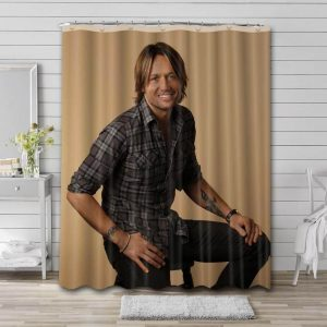 Keith Urban Portrait Shower Curtain Waterproof Polyester Fabric