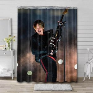 Keith Urban Singer Shower Curtain Waterproof Polyester Fabric