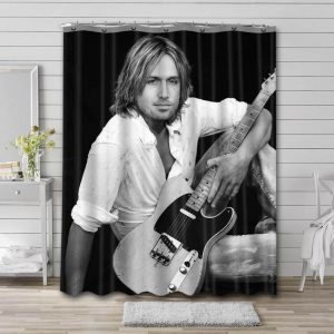 Keith Urban Shower Curtain Waterproof Polyester Fabric