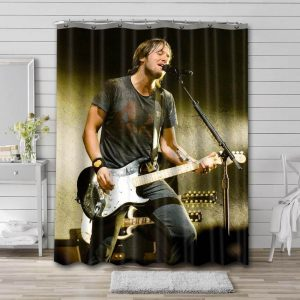 Keith Urban On Stage Shower Curtain Waterproof Polyester Fabric