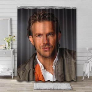 Kevin Costner Shower Curtain Waterproof Polyester Fabric