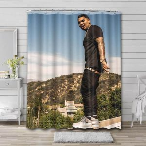 Kevin Gates Rapper Shower Curtain Waterproof Polyester Fabric