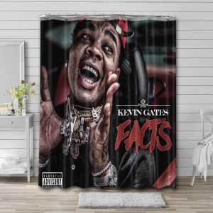 Kevin Gates Facts Bathroom Curtain Shower Waterproof Fabric