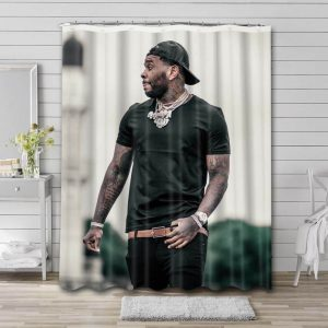 Kevin Gates Shower Curtain Waterproof Polyester Fabric