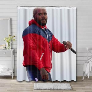 Kevin Gates Bathroom Shower Curtain Waterproof Polyester