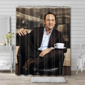 Kevin Spacey Photo Bathroom Shower Curtain Waterproof Polyester