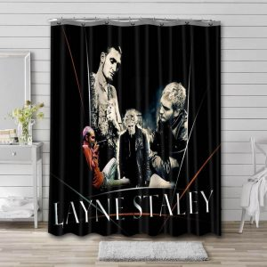 Layne Staley Singer Shower Curtain Waterproof Polyester Fabric