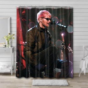Layne Staley Shower Curtain Waterproof Polyester Fabric