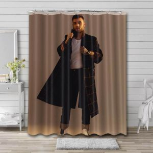 Liam Payne Shower Curtain Waterproof Polyester Fabric