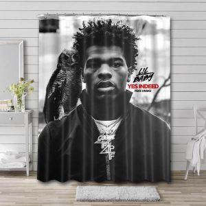 Lil Baby Yes Indeed Shower Curtain Waterproof Polyester Fabric