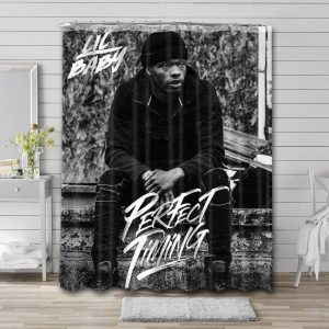 Lil Baby Perfect Timing Bathroom Shower Curtain Waterproof Polyester
