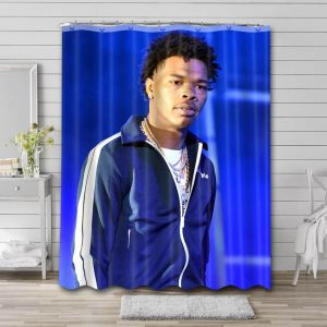 Lil Baby Shower Curtain Bathroom Decoration Waterproof Polyester Fabric.