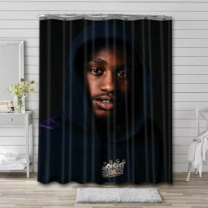 Lil Tjay Shower Curtain Waterproof Polyester Fabric