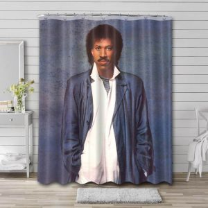 Lionel Richie Young Shower Curtain Bathroom Waterproof Fabric