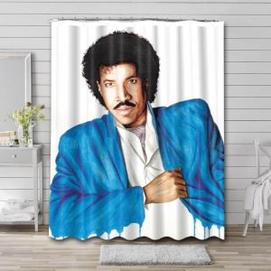 Lionel Richie Painting Bathroom Shower Curtain Waterproof Polyester