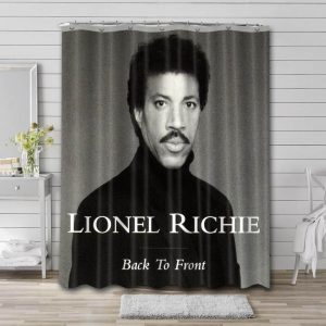 Lionel Richie Back To Front Bathroom Curtain Shower Waterproof Fabric