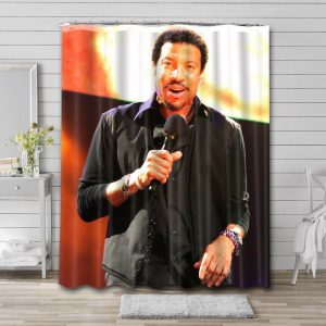 Lionel Richie Singer Shower Curtain Waterproof Polyester Fabric