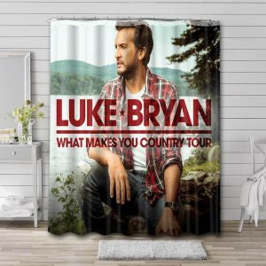 Luke Bryan What Makes You Country Shower Curtain Bathroom Decoration