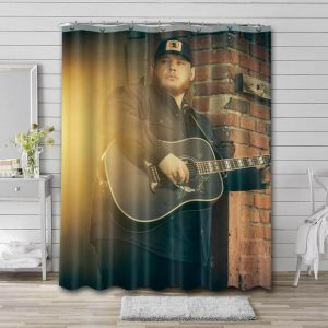 Luke Combs Country Shower Curtain Waterproof Polyester Fabric
