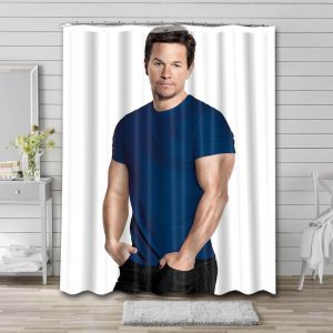 Mark Wahlberg Actor Shower Curtain Waterproof Polyester Fabric