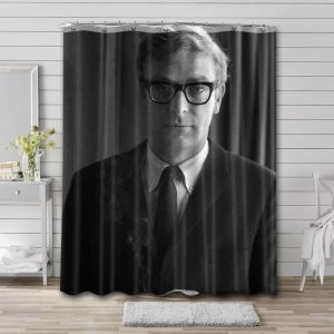 Michael Caine Young Shower Curtain Bathroom Waterproof Fabric