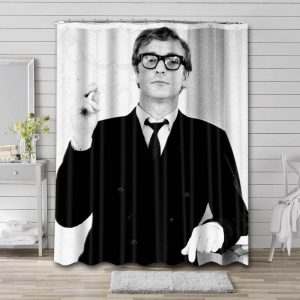 Michael Caine Movies Shower Curtain Waterproof Polyester Fabric