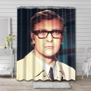 Michael Caine Young Shower Curtain Bathroom Decoration