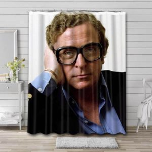 Michael Caine Young Bathroom Shower Curtain Waterproof Polyester