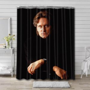 Michael Douglas Young Shower Curtain Waterproof Polyester Fabric