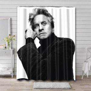 Michael Douglas Young Bathroom Shower Curtain Waterproof Polyester