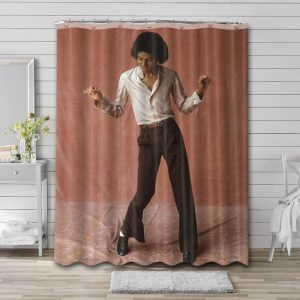 Michael Jackson Young Shower Curtain Waterproof Polyester Fabric