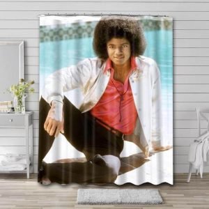 Michael Jackson Young Bathroom Shower Curtain Waterproof Polyester