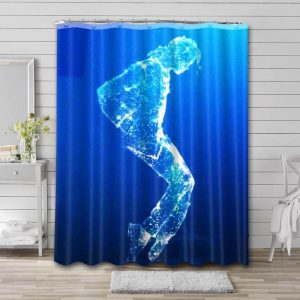 Michael Jackson In Memory Shower Curtain Waterproof Polyester Fabric