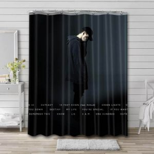NF Nathan John Feuerstein Songs Shower Curtain Waterproof Polyester Fabric