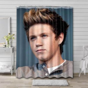 Niall Horan Portrait Shower Curtain Waterproof Polyester Fabric