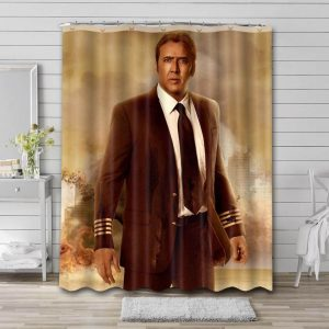 Nicolas Cage Actor Shower Curtain Waterproof Polyester Fabric