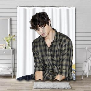 Noah Centineo Shower Curtain Waterproof Polyester Fabric