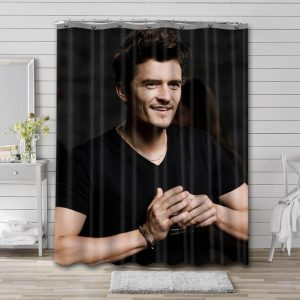 Orlando Bloom Actor Shower Curtain Waterproof Polyester Fabric
