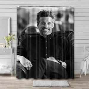 Patrick Dempsey Hollywood Shower Curtain Waterproof Polyester Fabric