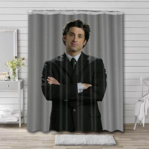 Patrick Dempsey Movies Shower Curtain Waterproof Polyester Fabric