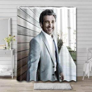 Patrick Dempsey Shower Curtain Waterproof Polyester Fabric