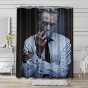 Paul Bettany Shower Curtain Bathroom Decoration Waterproof Polyester Fabric.