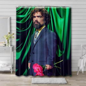 Peter Dinklage Shower Curtain Bathroom Decoration Waterproof Polyester Fabric.