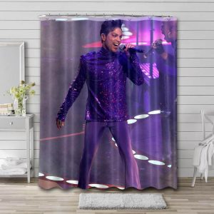 Prince Live Shower Curtain Waterproof Polyester Fabric
