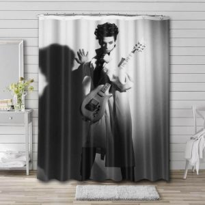 Prince On Stage Shower Curtain Waterproof Polyester Fabric