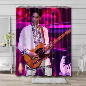 Prince On Stage Bathroom Shower Curtain Waterproof Polyester