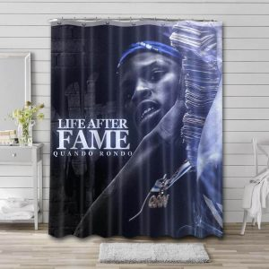 Quando Rondo Life After Fame Bathroom Shower Curtain Waterproof Polyester