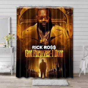 Rick Ross God Forgives I Don't Bathroom Shower Curtain Waterproof Polyester