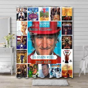 Robin Williams Movies Shower Curtain Waterproof Polyester Fabric