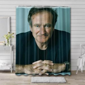 Robin Williams Shower Curtain Waterproof Polyester Fabric